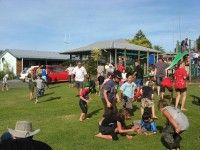 Playground and grass area
